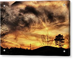 Burning Clouds Acrylic Print