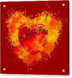 Burning Heart Acrylic Print