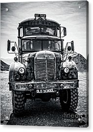 Burning Man Type School Bus Acrylic Print