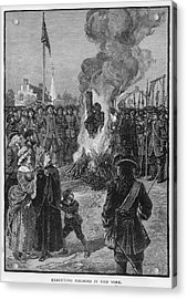 Burning Slaves At The Stake Acrylic Print by Kean Collection