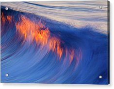 Burning Wave Acrylic Print