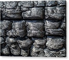 Acrylic Print featuring the photograph Burnt Wood 1 by Dawn Richards