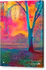 Bush Sunset  Acrylic Print