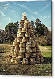 Acrylic Print featuring the photograph Bushel Basket Christmas Tree by Bill Swartwout Fine Art Photography