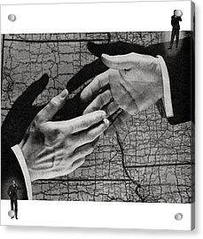 Businessmen Shaking Hands Acrylic Print by Graphicaartis