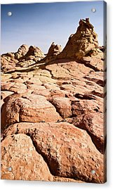 Butte Cracks Acrylic Print