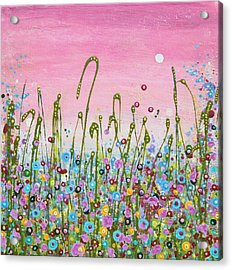 Buttercups And Lilacs Acrylic Print