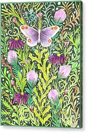 Butterfly In The Millefleurs Acrylic Print