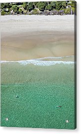 Acrylic Print featuring the photograph Byron Bay Swimmers by Chris Cousins