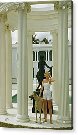 C. Z. Guest Acrylic Print by Slim Aarons