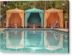 Acrylic Print featuring the photograph Cabanas by Alison Frank