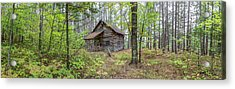 Acrylic Print featuring the photograph Cabin In The Forest by Pierre Leclerc Photography