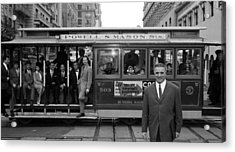 Cable Car Celebs Acrylic Print by Slim Aarons