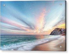 Acrylic Print featuring the photograph Cabo San Lucas Beach Sunset Mexico by Nathan Bush