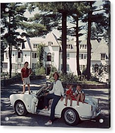 Cabot Family Acrylic Print by Slim Aarons