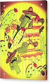 Cactus Carnival Acrylic Print