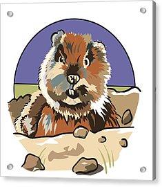 Caddyshack Gopher Acrylic Print