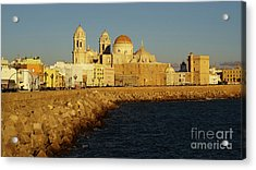 Acrylic Print featuring the photograph Cadiz Cathedral From Southern Field Spain by Pablo Avanzini