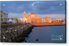 Acrylic Print featuring the photograph Cadiz Skyline And Cathedral Andalucia Spain by Pablo Avanzini