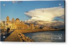 Acrylic Print featuring the photograph Cadiz Skyline And Cathedral Under Cumulonimbus by Pablo Avanzini