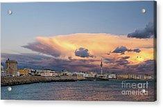 Acrylic Print featuring the photograph Cadiz Skyline Under Cumulonimbus by Pablo Avanzini