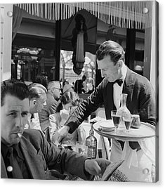 Cafe Culture Acrylic Print by Bert Hardy