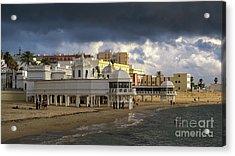 Acrylic Print featuring the photograph Caleta Beach Spa Cadiz Spain by Pablo Avanzini