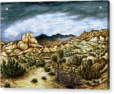 California Desert Landscape - Watercolor Art Painting Acrylic Print