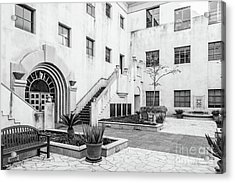California Institute Of Technology Courtyard Acrylic Print by University Icons