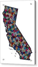 California Map - 1 Acrylic Print