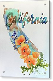California Map Acrylic Print