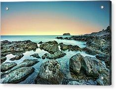 Calm Rocky Coast In Greece Acrylic Print
