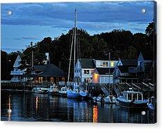 Camden Maine Twightlight Acrylic Print