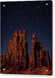 Camel Butte Under The Night Sky Acrylic Print
