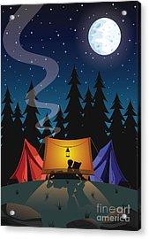 Camping Acrylic Print by Nikola Knezevic