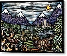 Campo Acrylic Print by Ricardo Levins Morales