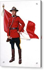 Canadian Mountie Acrylic Print