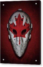 Canadian Vintage Goalie Mask Acrylic Print