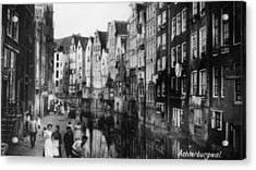 Canalside Houses Acrylic Print by Hulton Archive