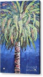 Canary Island Palm- Warm Blue I Acrylic Print