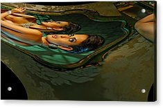 Canary Seaweed Acrylic Print