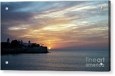 Acrylic Print featuring the photograph Candelaria Bulwark At Sunset Cadiz Spain by Pablo Avanzini