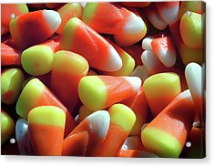 Acrylic Print featuring the photograph Candy Corn For Halloween by Bill Swartwout Fine Art Photography