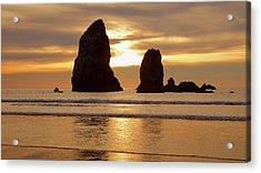 Cannon Beach November Sunset Acrylic Print