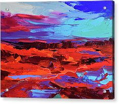 Canyon At Dusk Acrylic Print