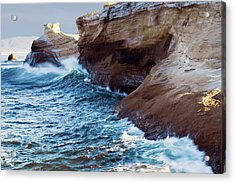 Acrylic Print featuring the photograph Cape Kiwanda Oregon 11518 by Rospotte Photography
