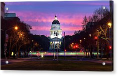 Capital Sunrise Acrylic Print