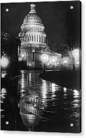 Capitol By Night Acrylic Print