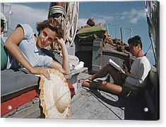 Capri Cruise Acrylic Print by Slim Aarons