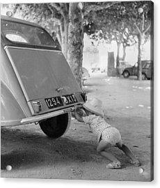 Car Break-down 1964 Acrylic Print by Keystone-france
